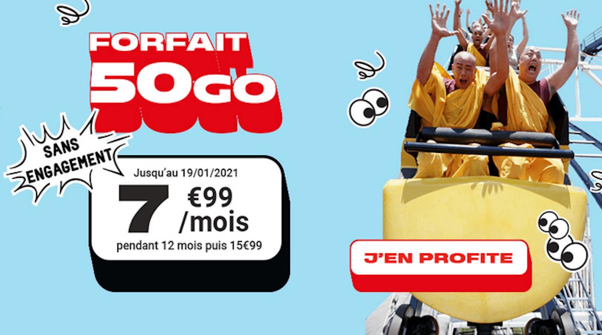 Forfait 50 Go NRJ Mobile promo