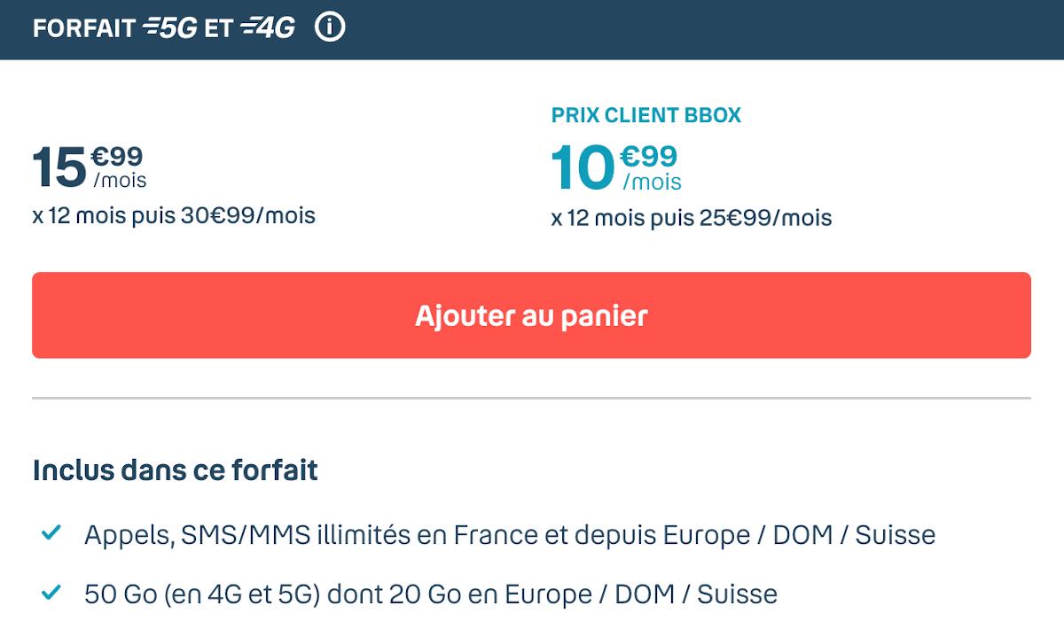 Forfait 5G Bouygues Telecom