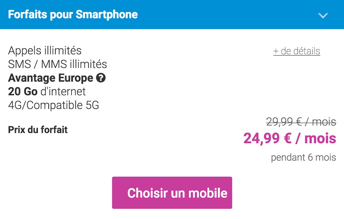 Forfait 5G Coriolis Télécom