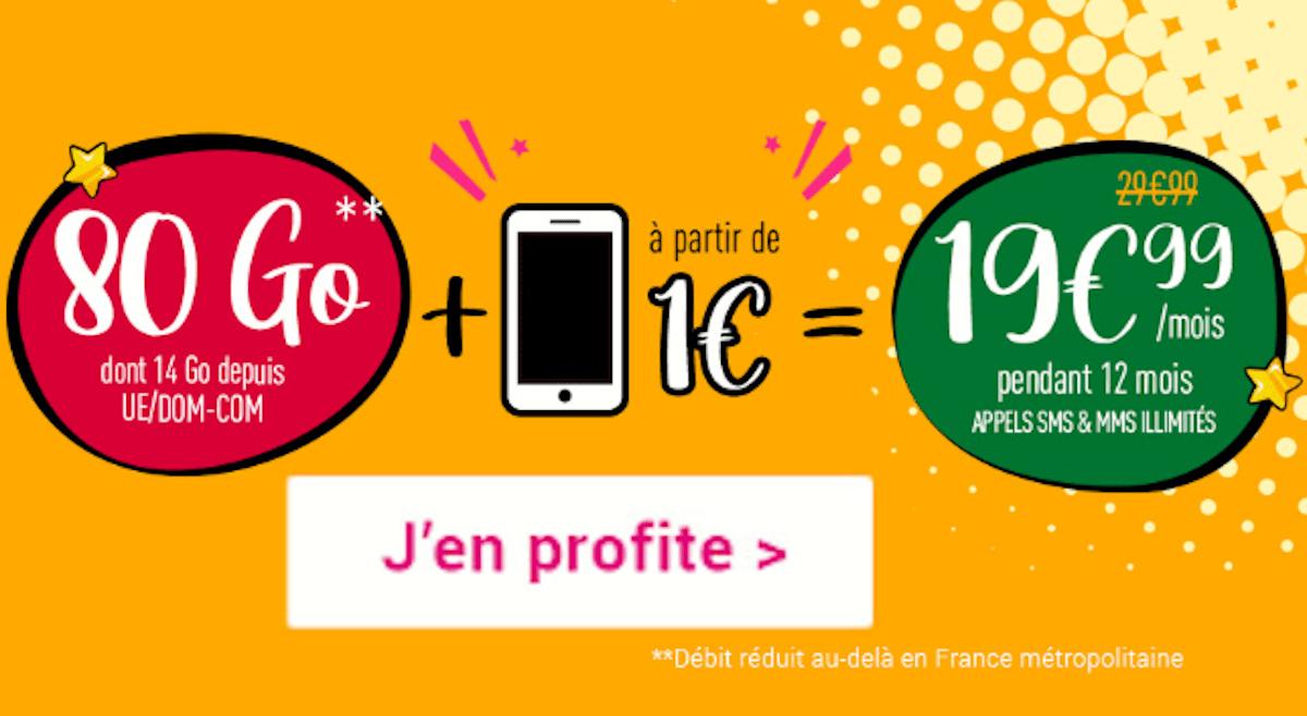 Forfait Coriolis Telecom 80 Go avec smartphone