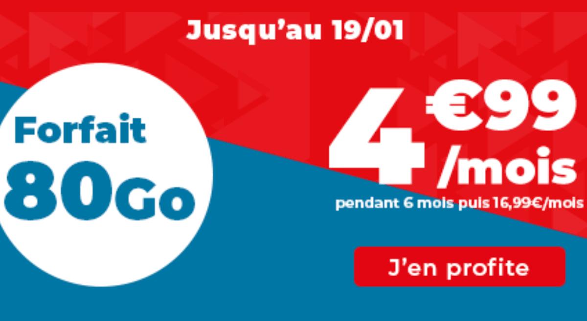 Forfait pas cher Auchan télécom 80 Go