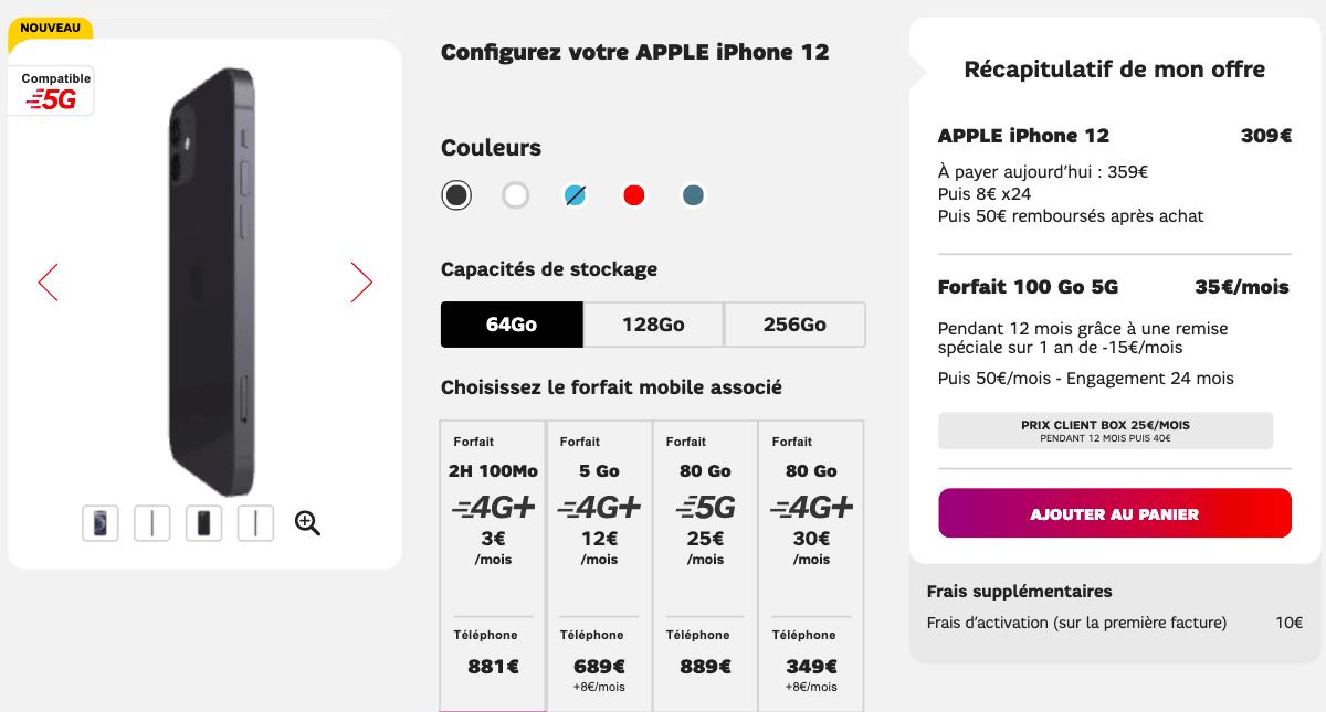 Apple iPhone 12 chez SFR