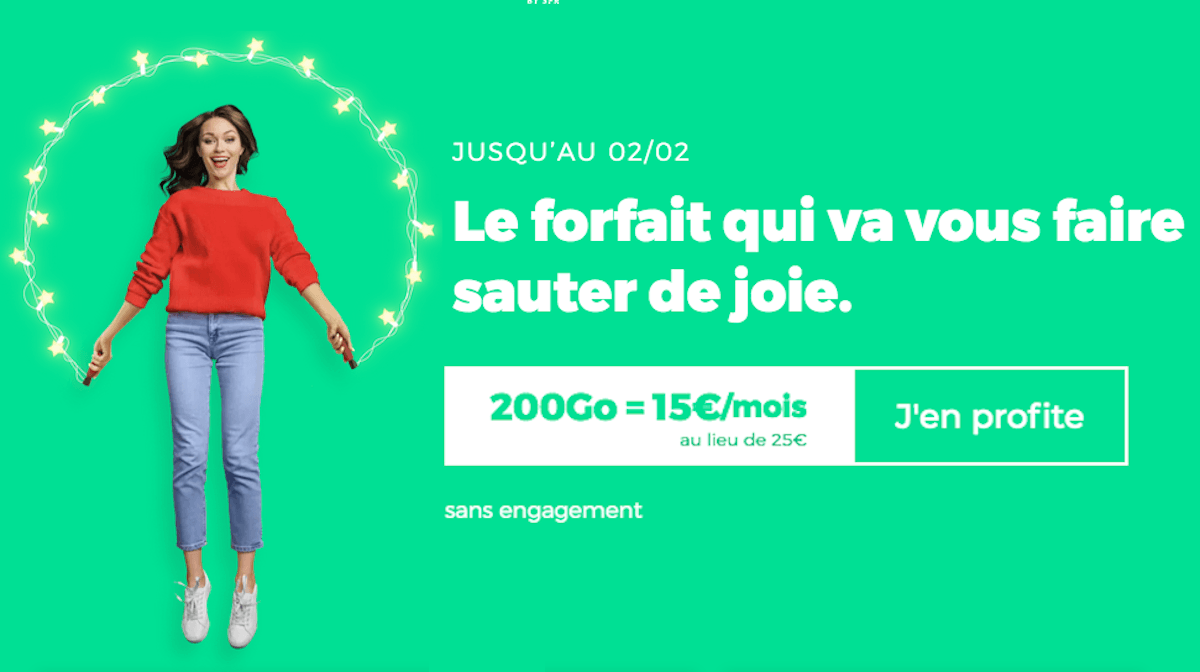 RED by SFR forfait 4G 200 Go