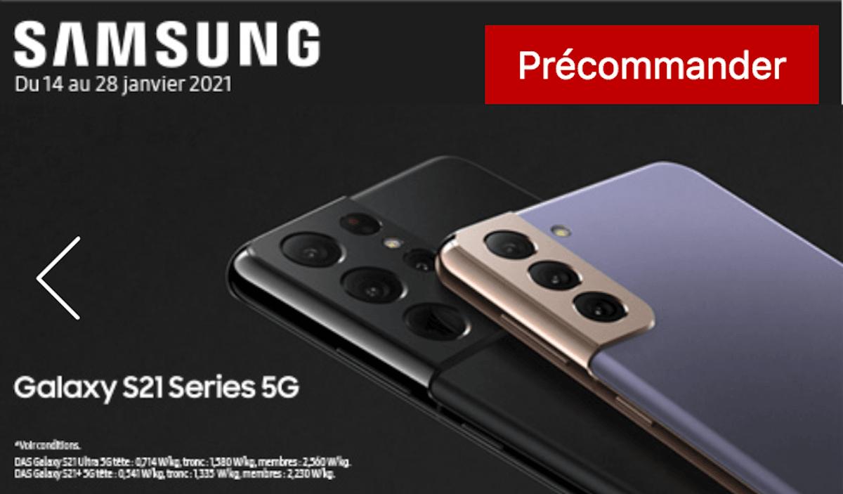 Samsung Galaxy S21 précommande Free Mobile
