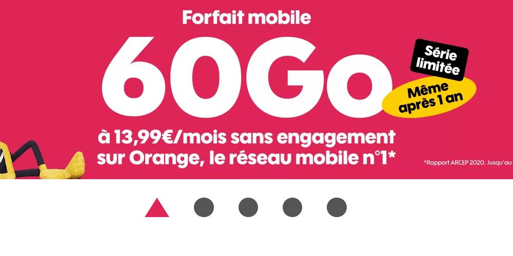 Le forfait 4G 60 Go de Sosh