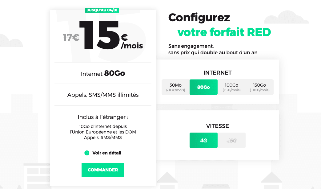 forfait RED offre mobile