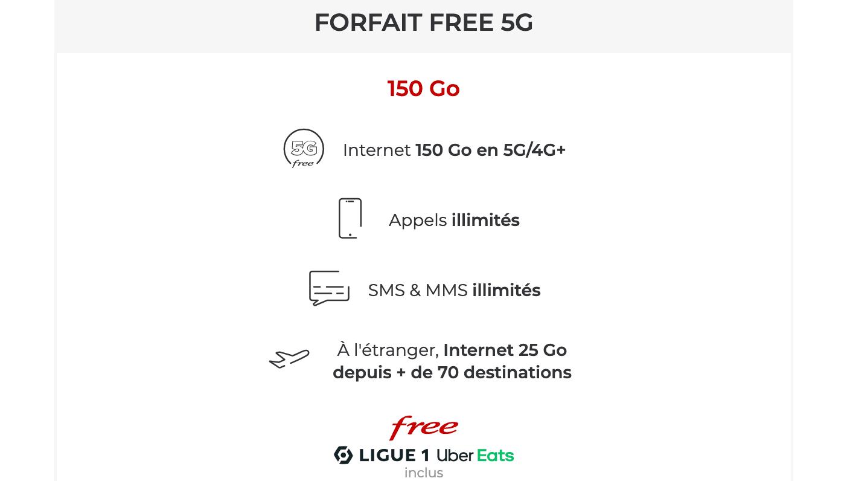 Le forfait Free en 5G