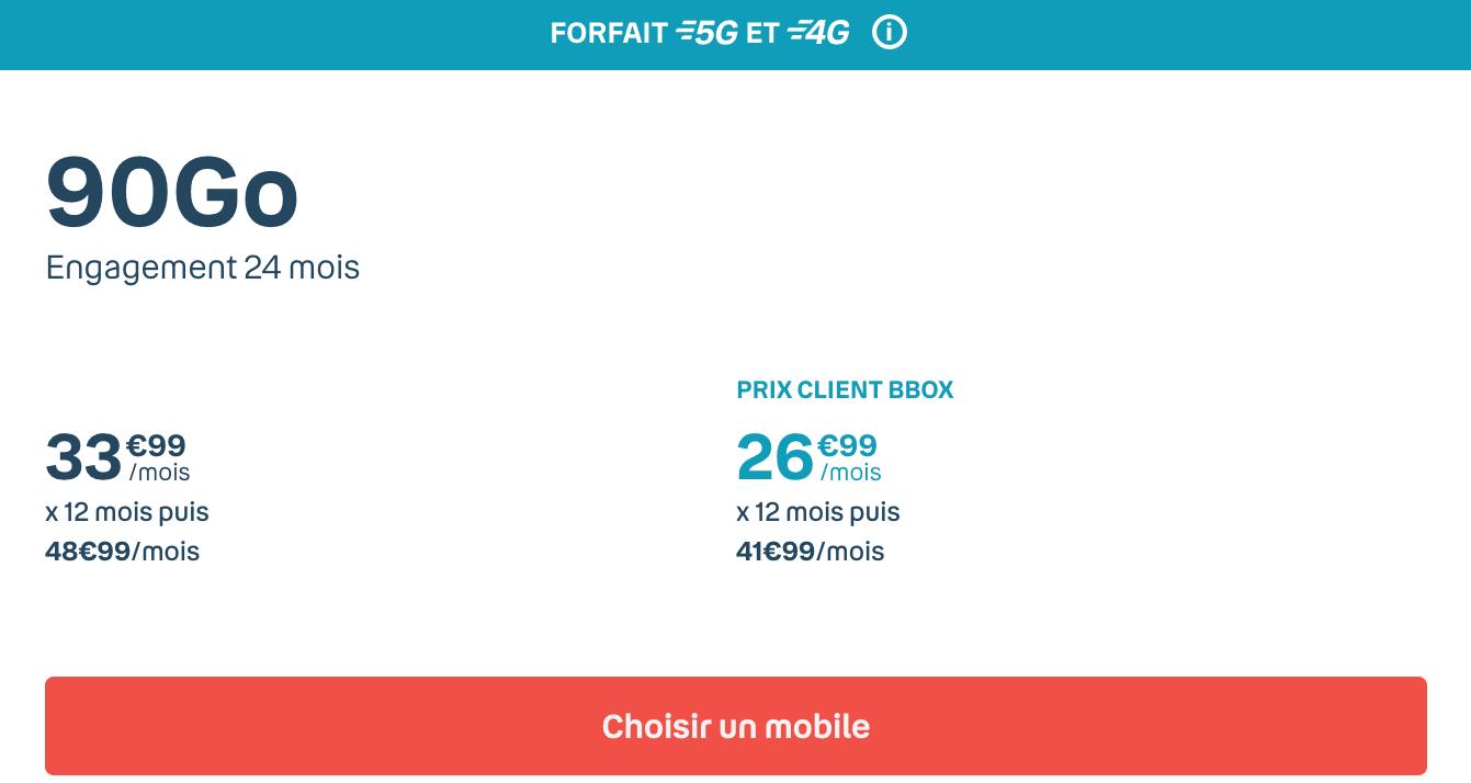 Le forfait Sensation 90 Go de Bouygues Telecom