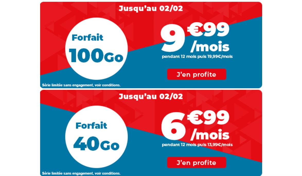 Les forfaits 4G Auchan télécom