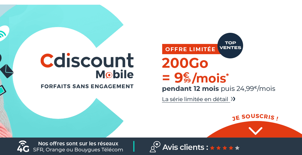 L'offre 4G Cdiscount Mobile