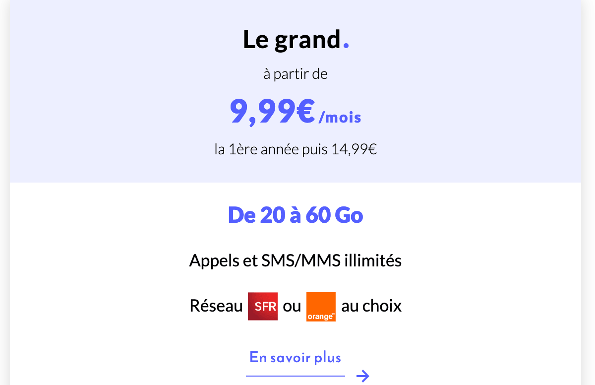 L'offre mobile Le grand