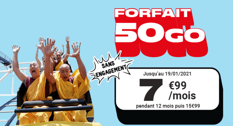 L'offre 50 Go de NRJ Mobile