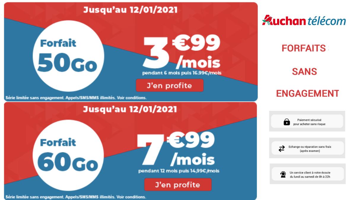 Les nouvelles offres de Auchan télécom