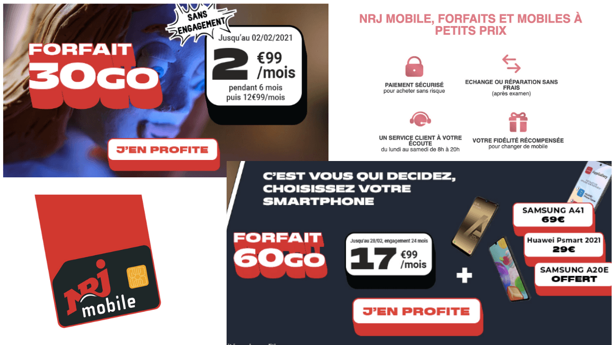 Les forfaits 4G NRJ Mobile