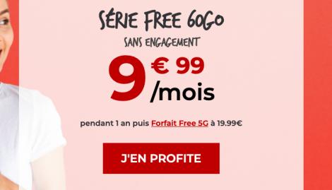 Promo forfait 60 Go Free.