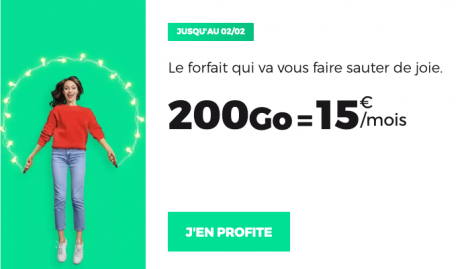 Promo forfait 200 Go RED by SFR.