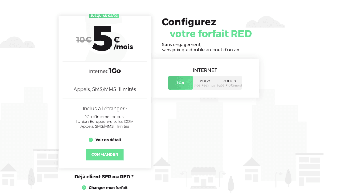 red by sfr petit forfait