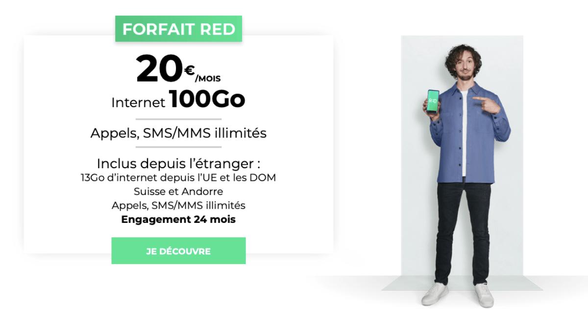 vente privée forfait red by sfr