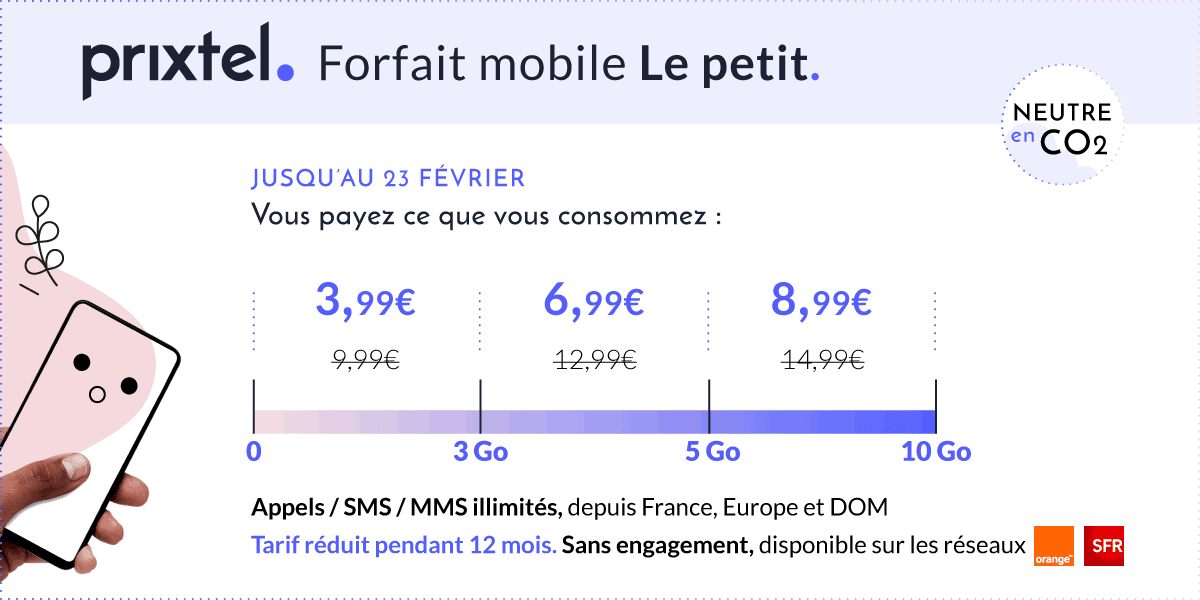 Prixtel forfait flexible Le Petit