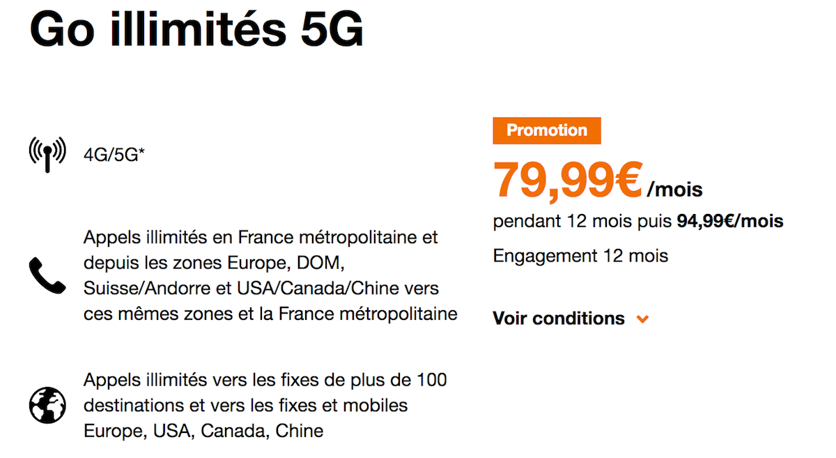5G illimité Orange