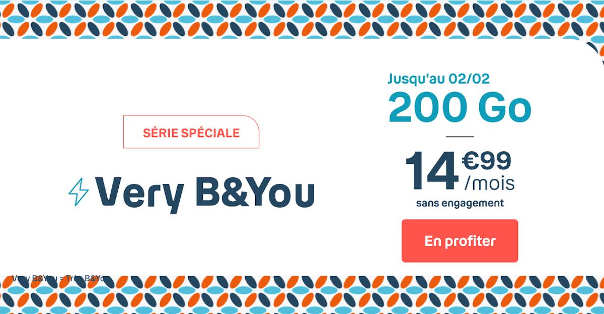 B&YOU Bouygues Telecom forfait 4G 200 Go