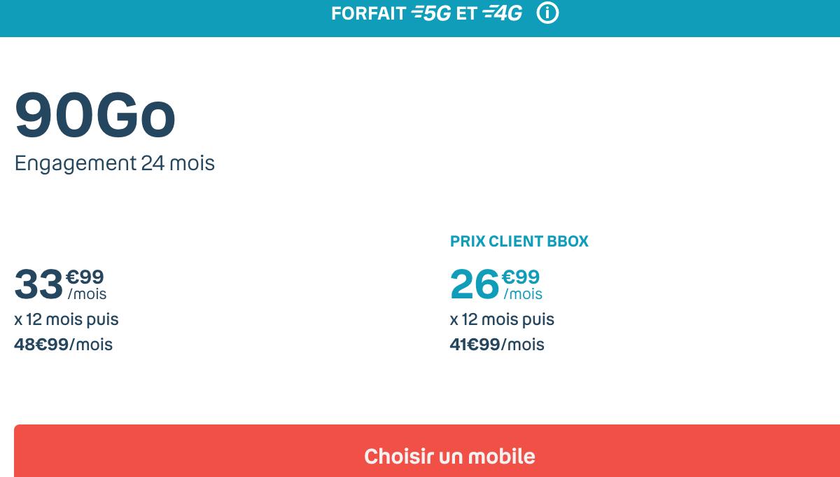 Bouygues iphone 12 forfait sensation 90 Go
