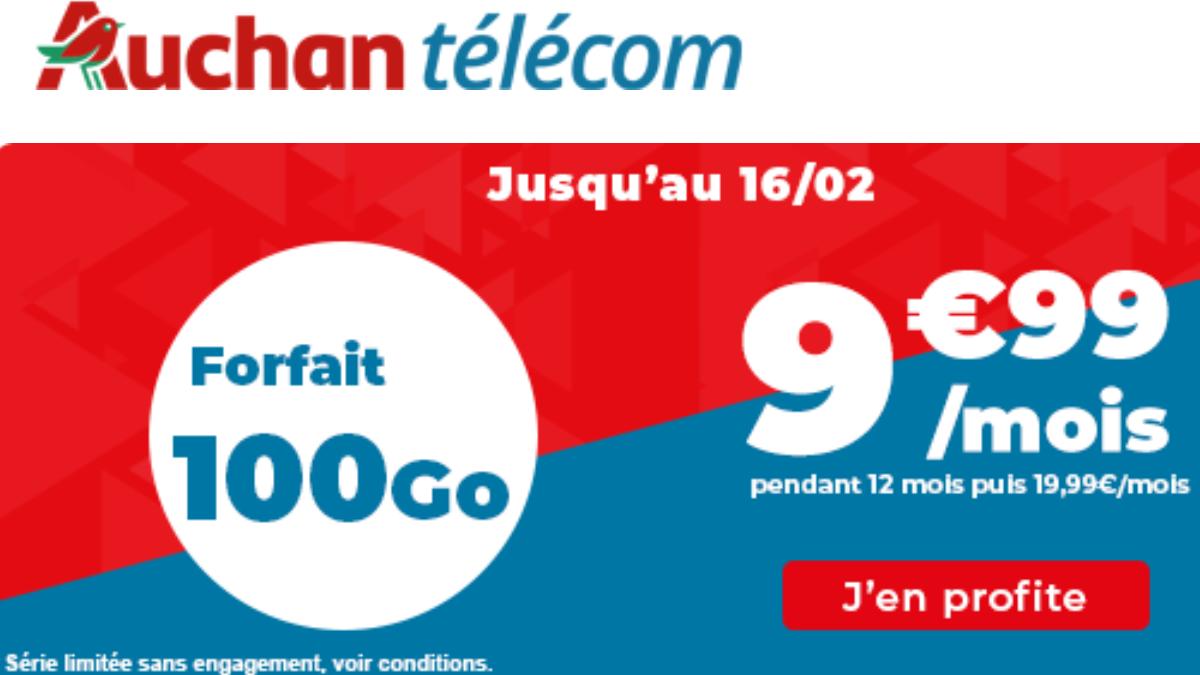 Forfait 100 Go Auchan télécom