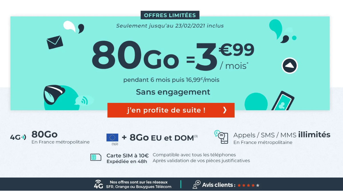 forfait 4G Cdiscount Mobile