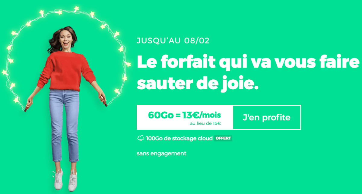 Forfait 4G RED by SFR 60 Go