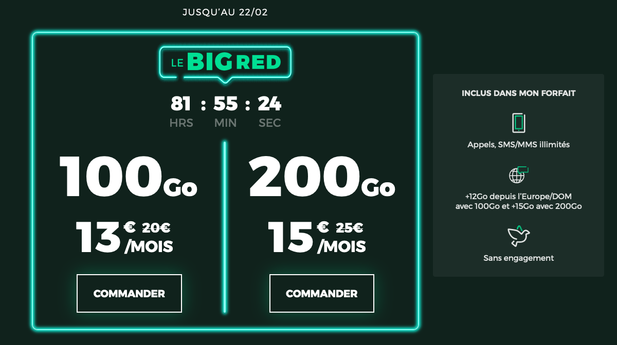 Forfait mobile Go RED by SFR