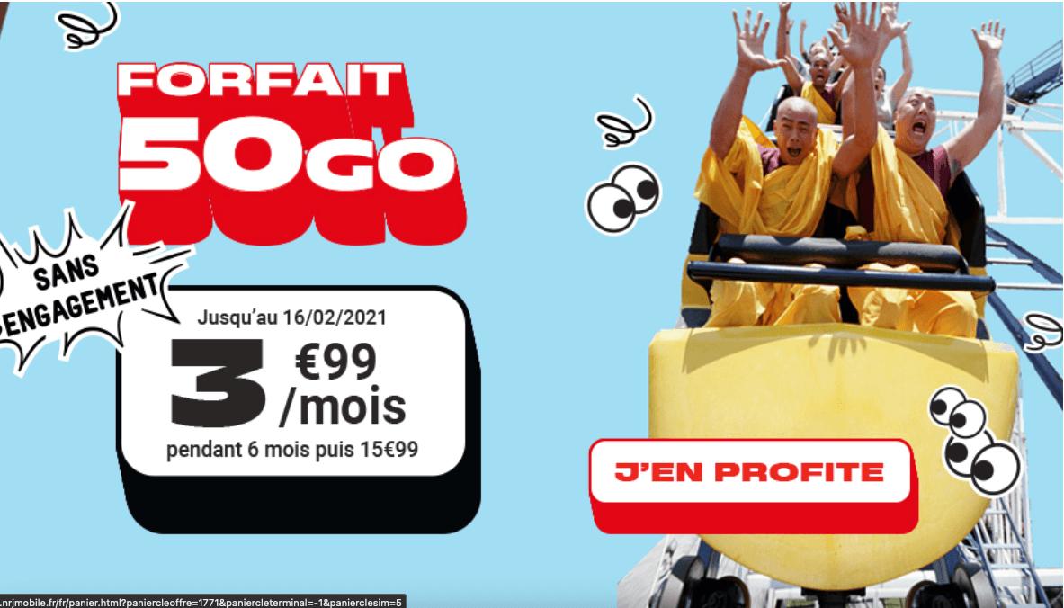 Forfait à moins de 10€ NRJ mobile