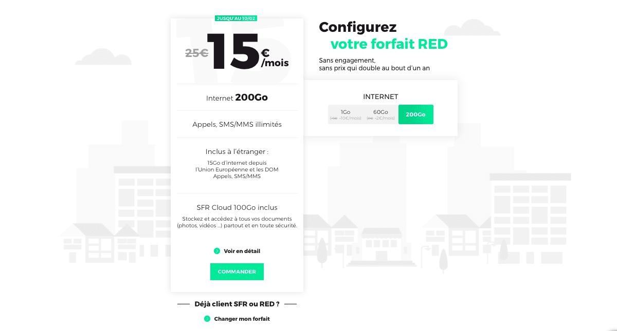RED by SFR forfaits à prix réduit