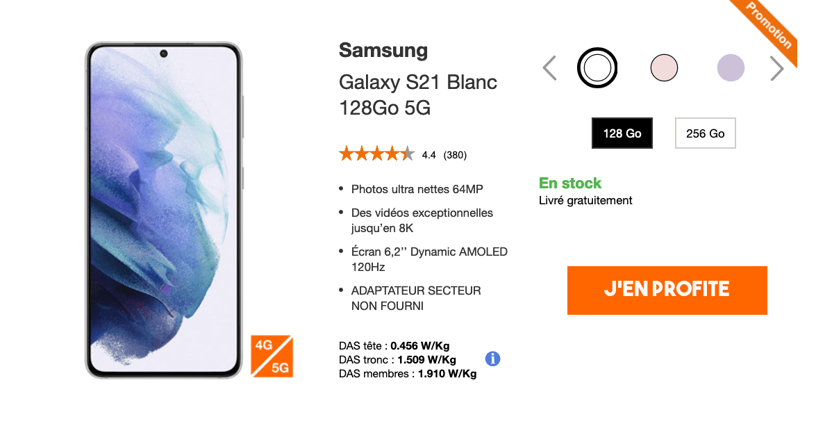 Smartphone 5G Samsung