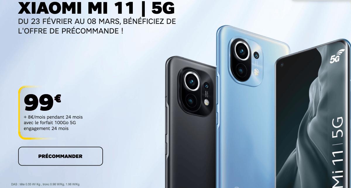Xiaomi Mi 11 5G chez SFR en promotion