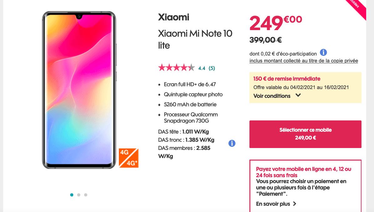 Xiaomi smartphone pas cher