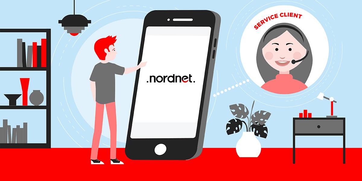 Joindre le service client Nordnet.