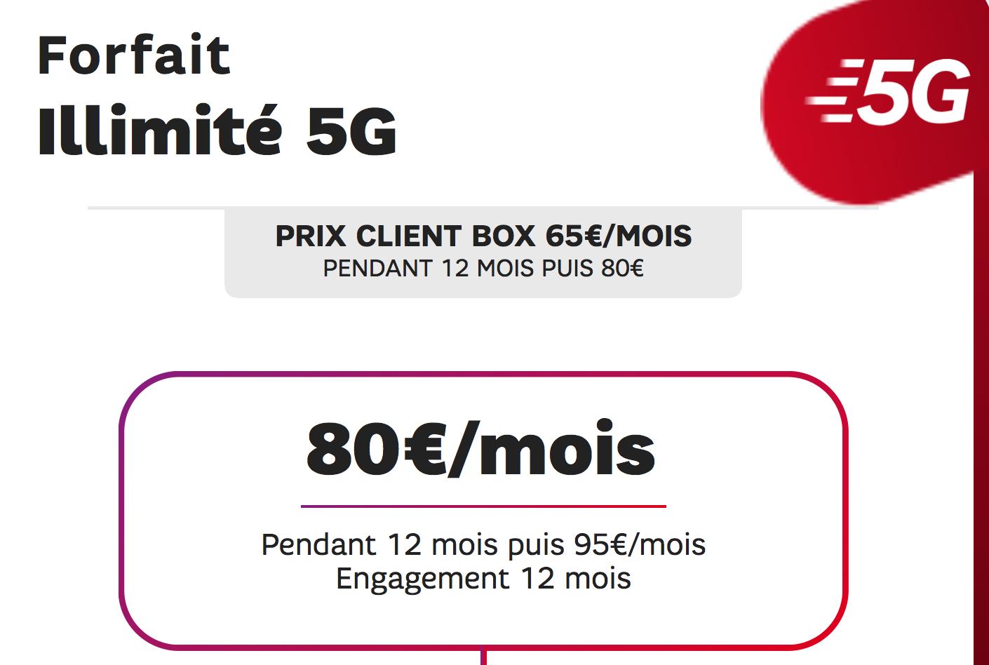 forfait 5G illimite SFR