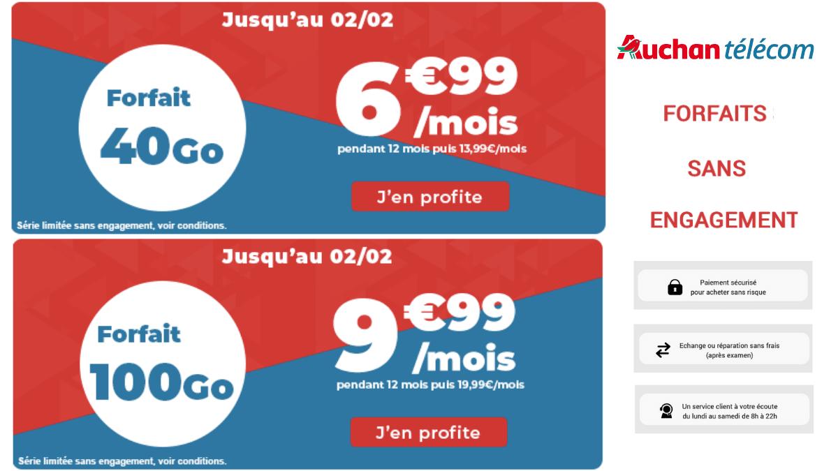 Les offres 4G de Auchan télécom