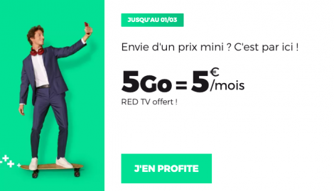 Promo forfait 5 Go RED by SFR.
