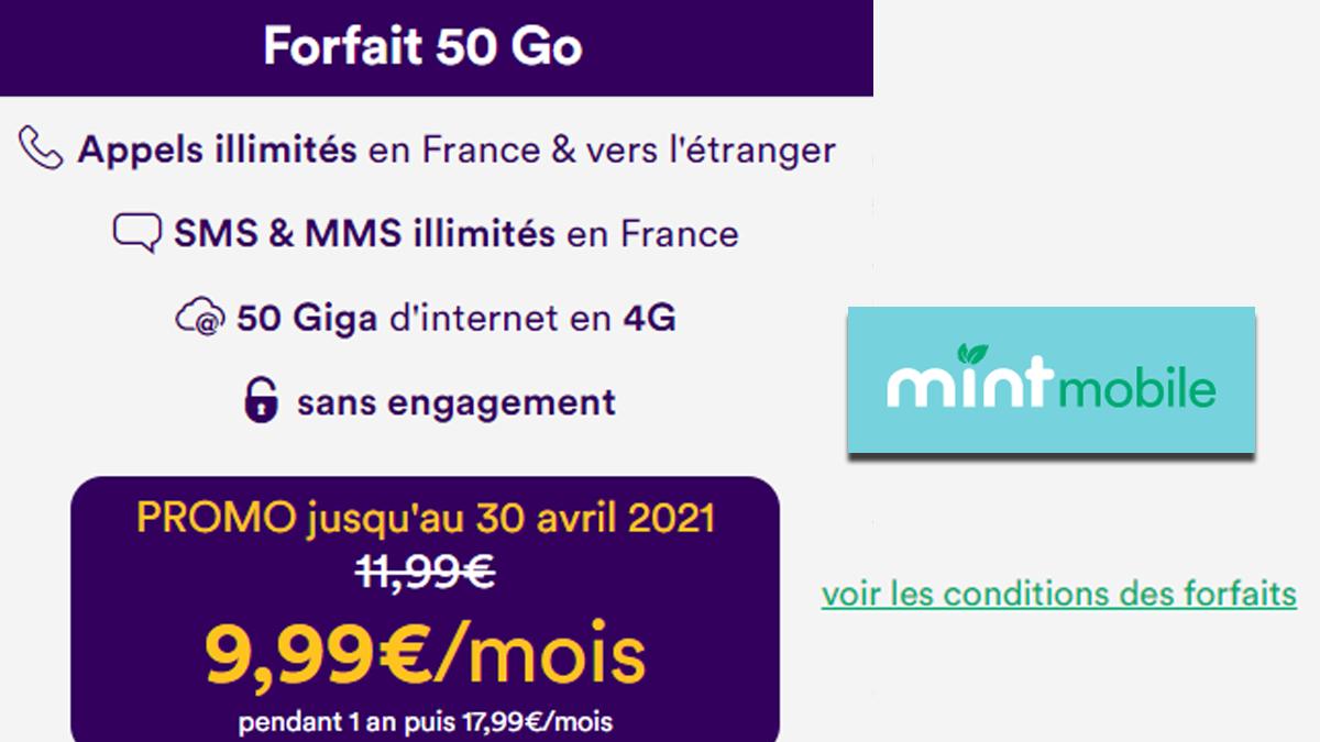 Forfait Mint Mobile en promo