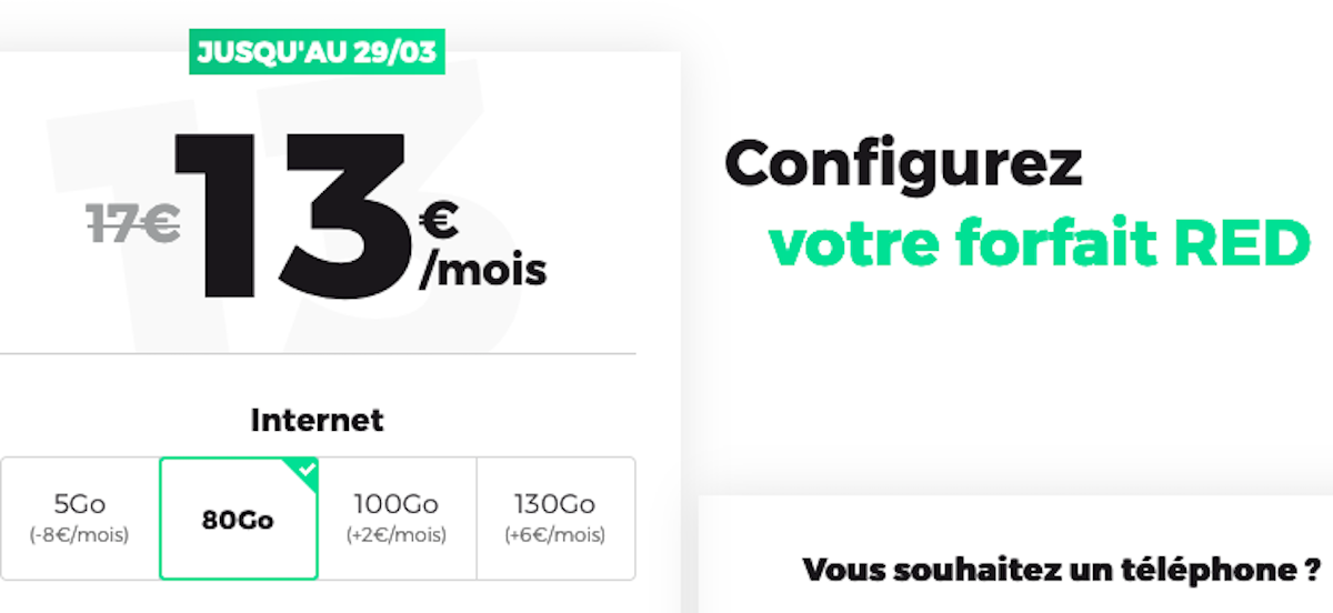 80Go forfait RED