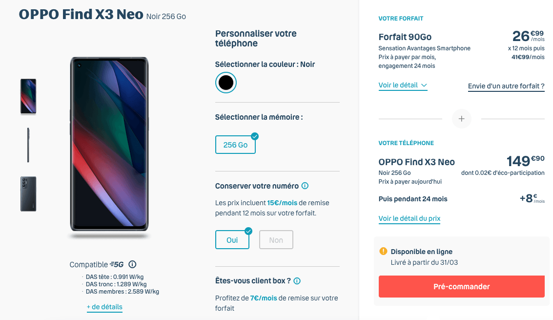 OPPO Find X3 Neo Bouygues