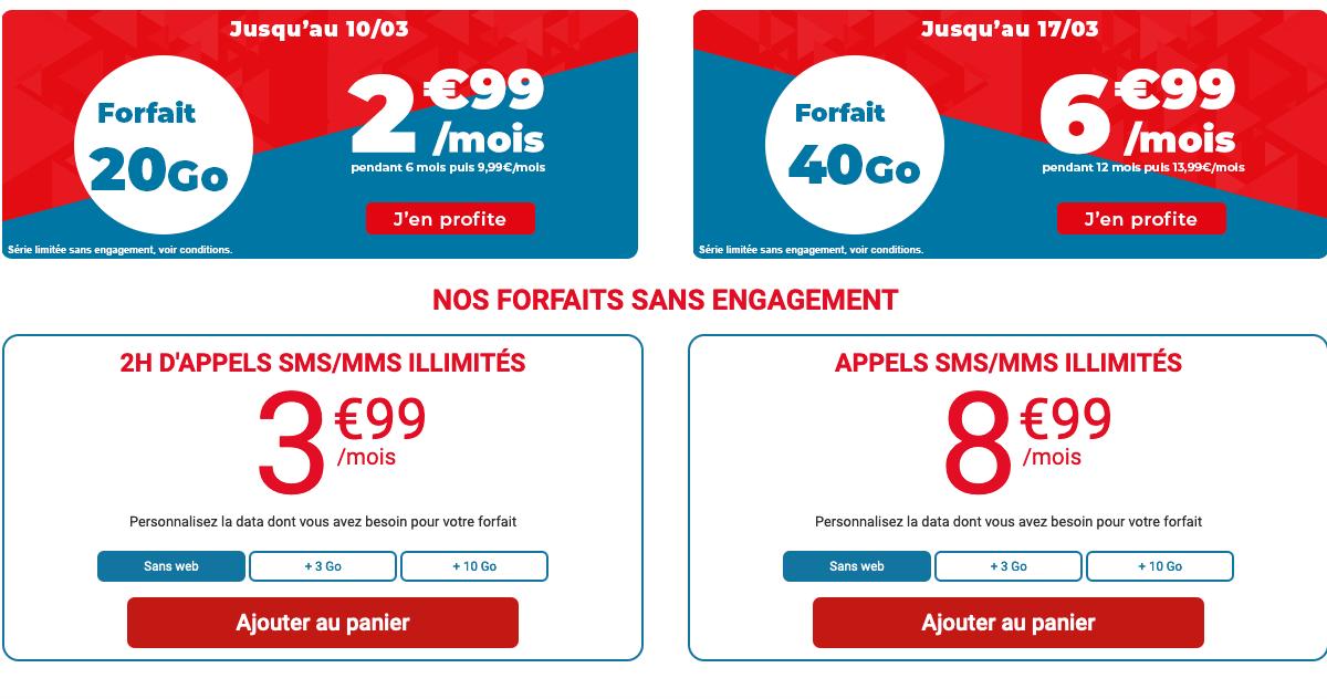 Forfait illimité Auchan télécom