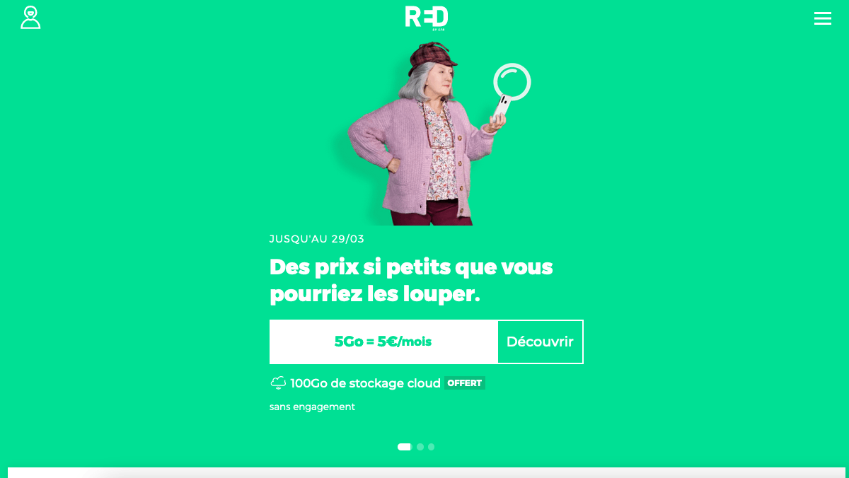 forfait promotion RED 5 Go