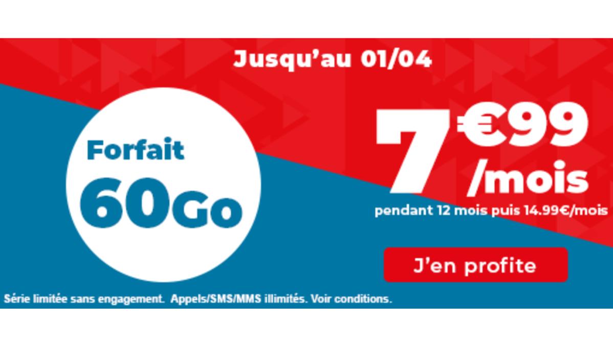 Forfait mobile 60 Go Auchan