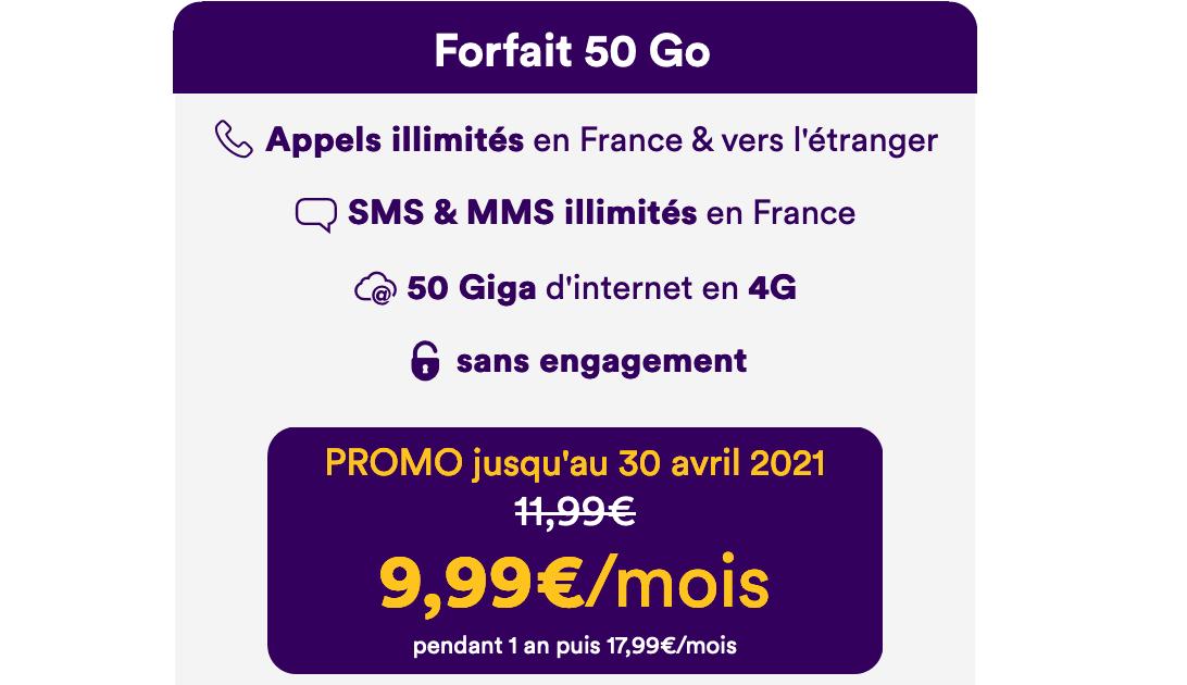 Forfait à 10€ de Mint Mobile