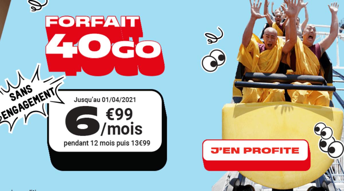 NRJ Mobile promo forfait 40 Go