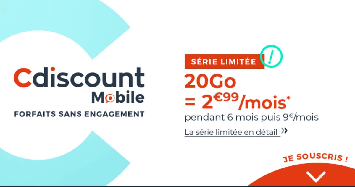 cdiscount mobile 20 Go
