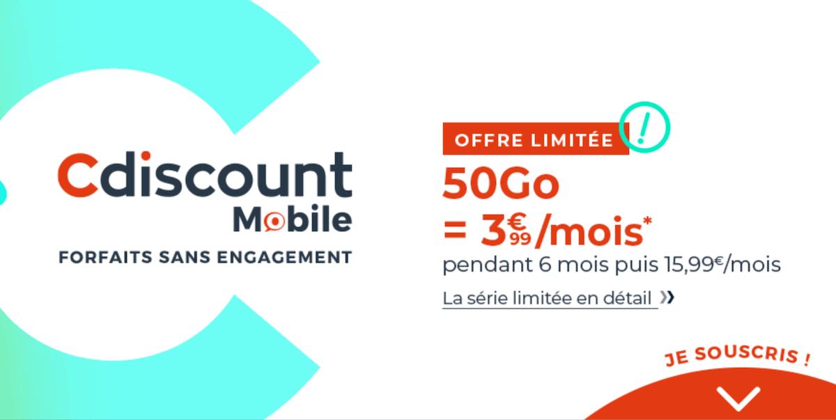 cdiscount mobile 50 Go