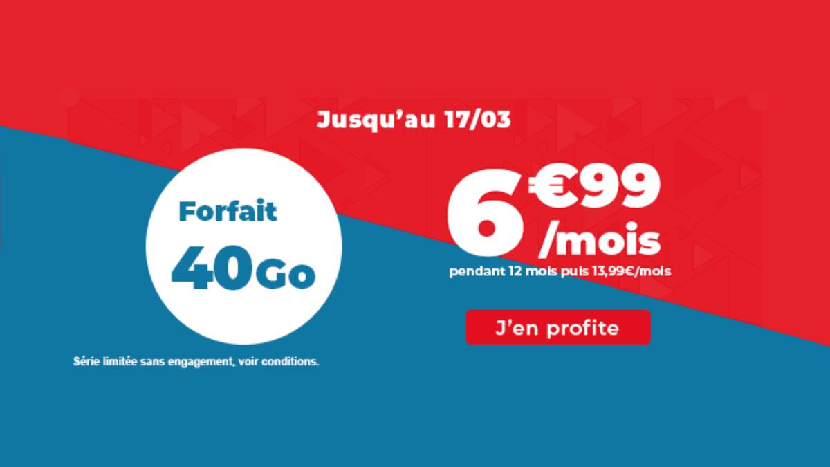 Le forfait en promo 40 Go Auchan Télécom